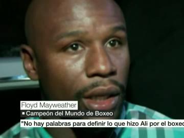 Floyd Mayweather mostró sus condolencias por la muerte de Muhammad Ali