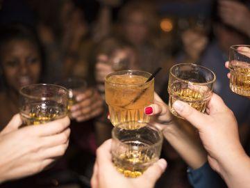 Copas de alcohol
