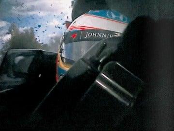 Imagen del accidente de Fernando Alonso desde el coche