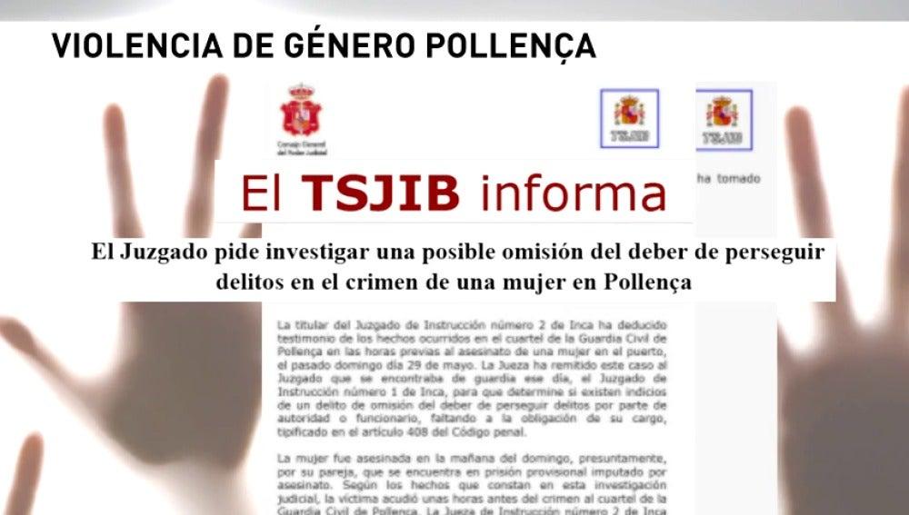 Frame 12.173592 de: La justicia investiga a la Guardia Civil de Pollensa, en Mallorca, por un posible delito de omisión del deber