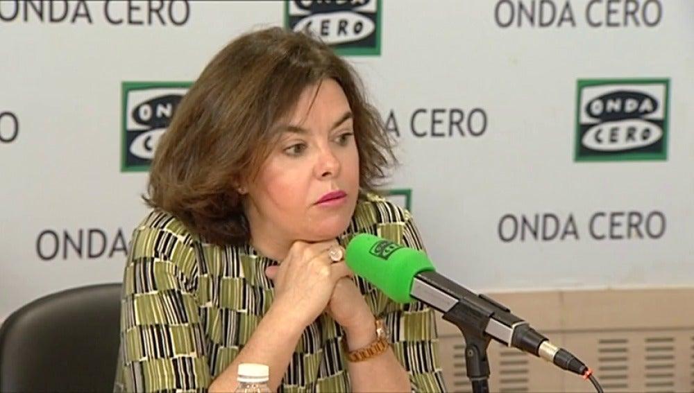 """Frame 39.72723 de: Sáenz de Santamaría: """"Vamos a ganar, el debate es quién va a quedar segundo"""""""