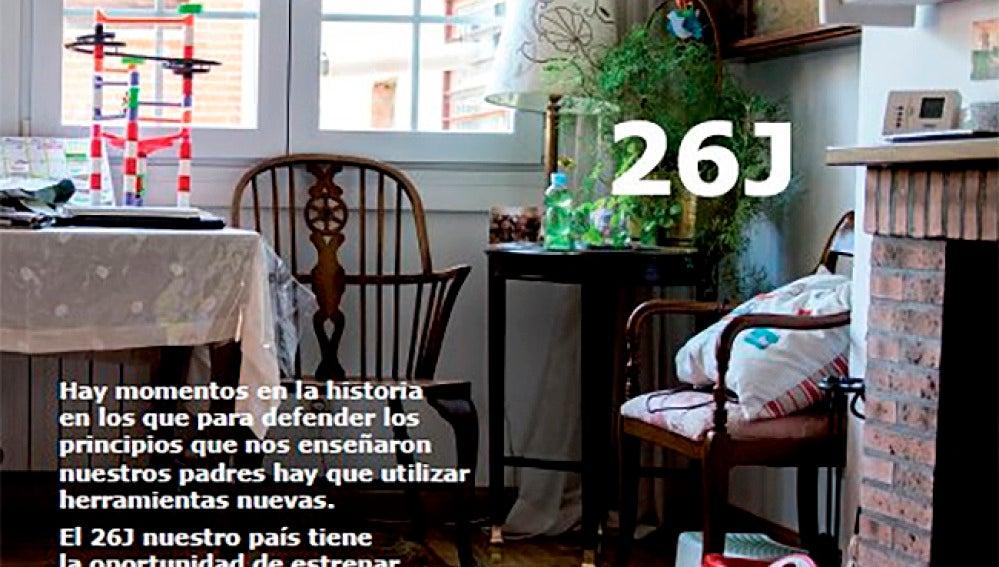 Imagen del programa político de Podemos versionando el catálogo de Ikea.