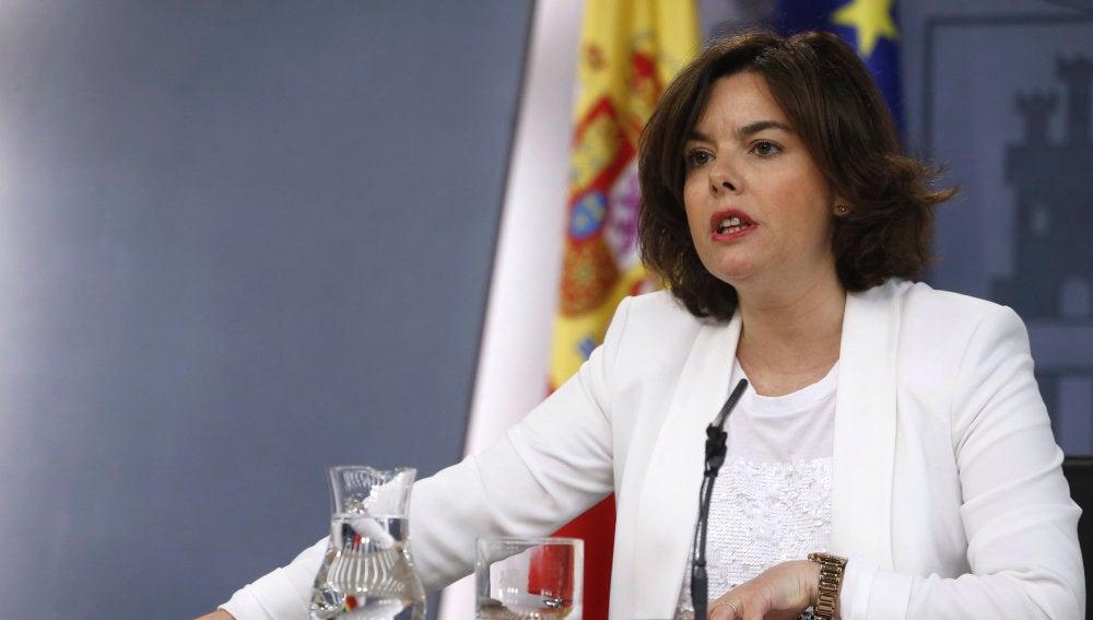 La vicepresidenta del Gobierno, Sáenz de Santamaría