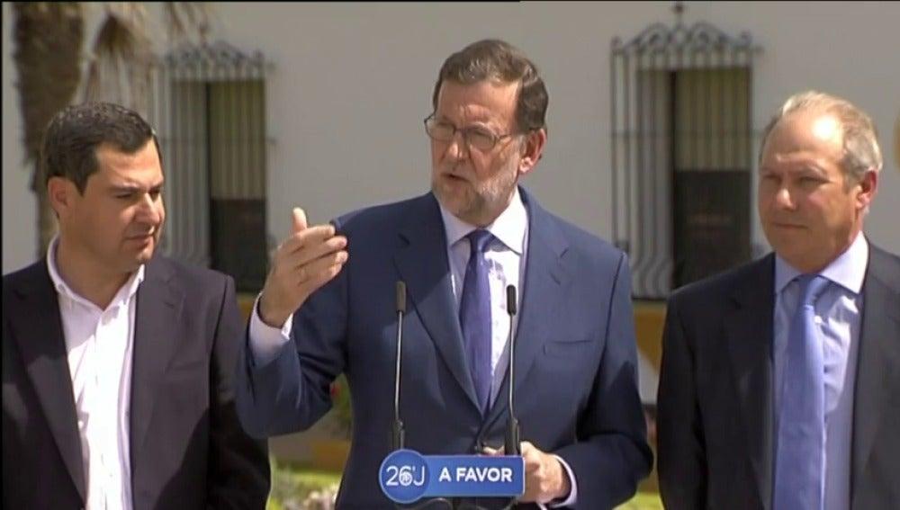 """Frame 10.167774 de: Mariano Rajoy: """"España no está para bromas, necesitamos un Gobierno con los objetivos claros"""""""