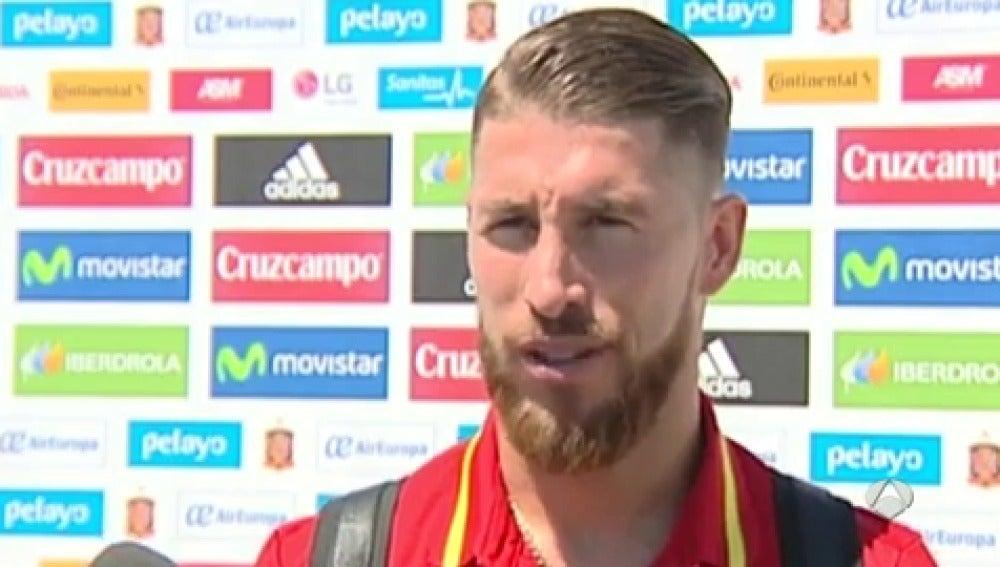 """Frame 3.246389 de: Sergio Ramos: """"No nos gusta ir de favoritos"""""""
