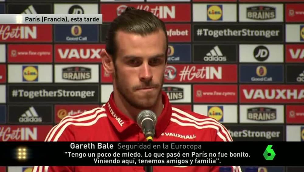 Gareth Bale, en rueda de prensa