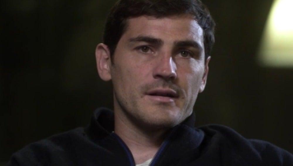 Iker Casillas, durante una entrevista