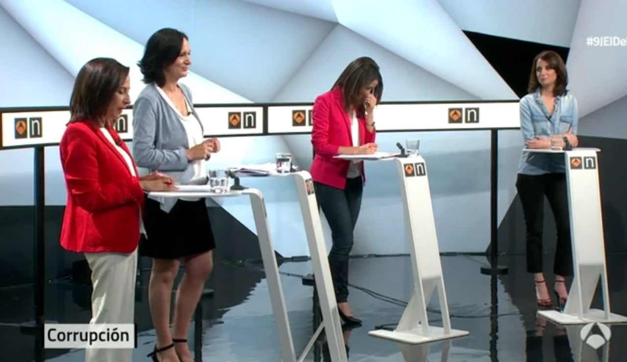 Margarita Robles interviene en el debate 'a cuatro'