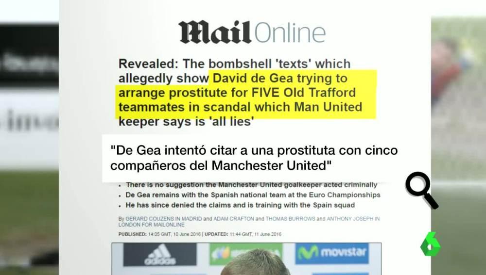 El escándalo De Gea, en las portadas de todo el mundo