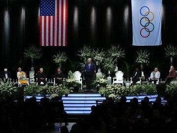 Momento del funeral de Muhammad Ali
