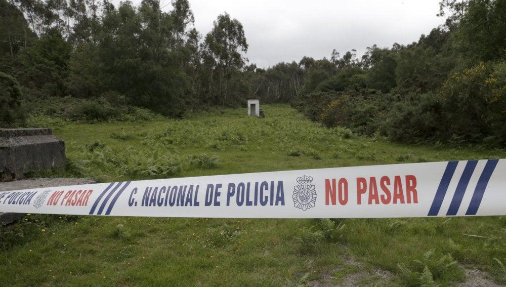 Lugar cercano al sitio donde la Policía Nacional ha hallado el cadáver de la mujer desaparecida