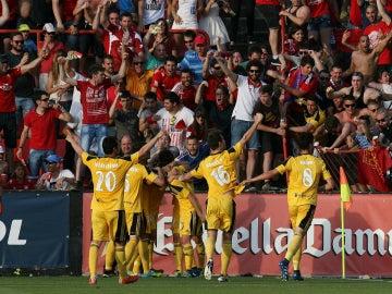 Osasuna festeja un gol