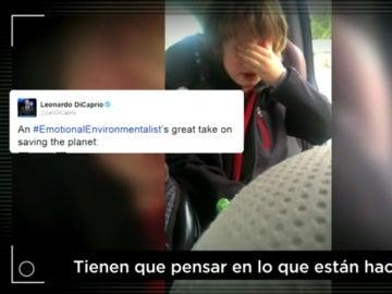 El niño ecologista que llora por el planeta, entre lo más viral de la semana