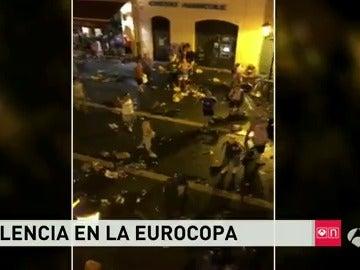 Disturbios en Niza durante la Eurocopa de Francia