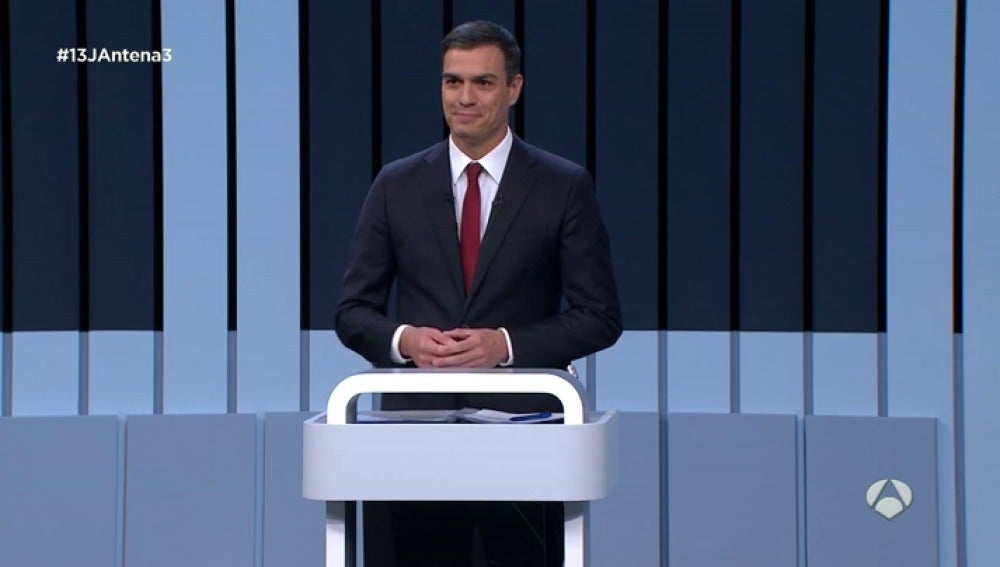 Pedro Sánchez, en el debate a cuatro
