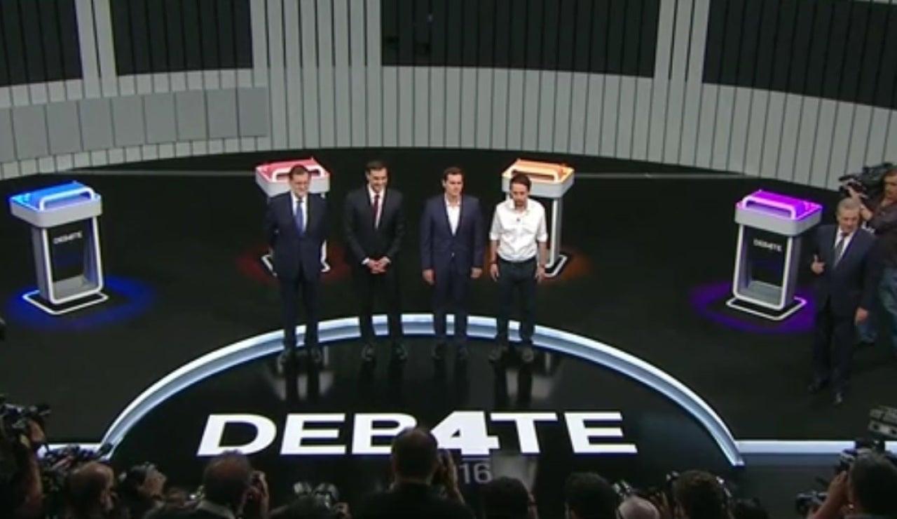 Debate a cuatro entre los líderes políticos