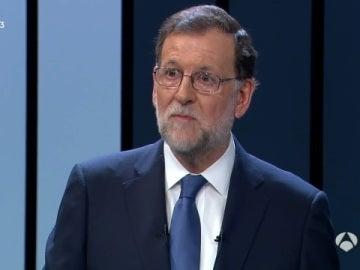 Mariano Rajoy en el debate