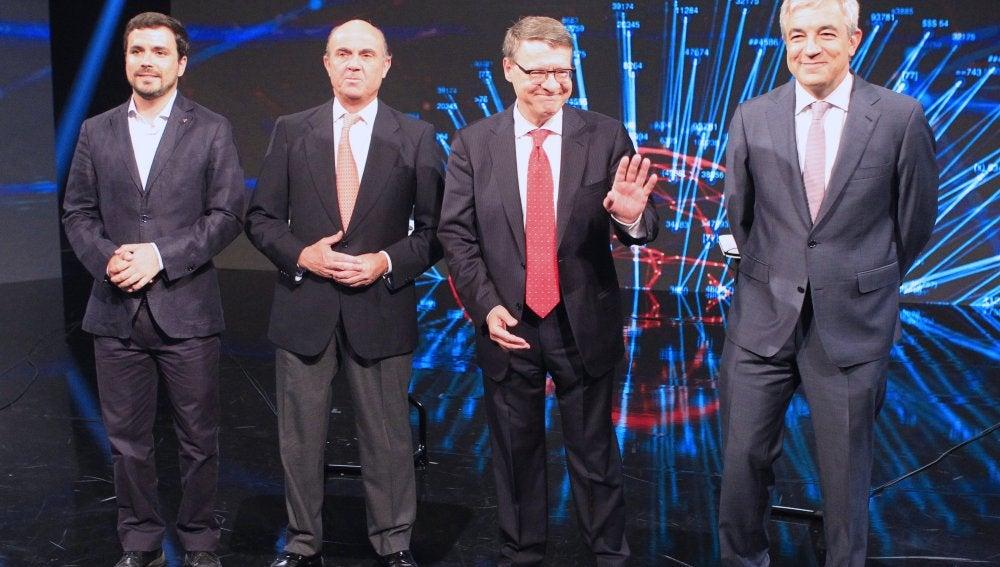 Los participantes en el debate 'a cuatro' sobre economía