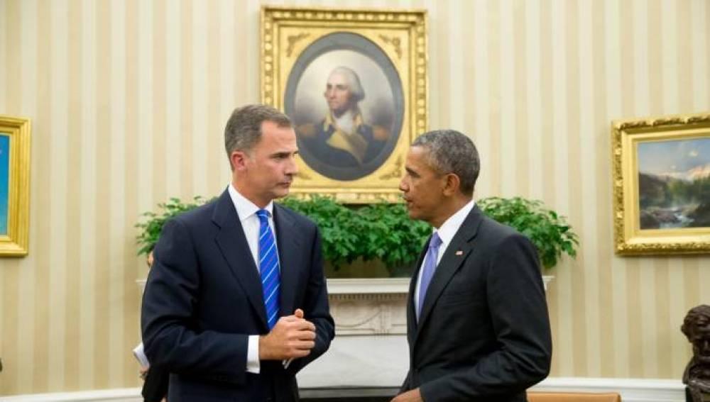 El rey Felipe VI con el presidente de EEUU, Barack Obama