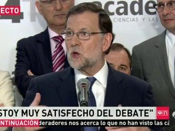 """Frame 41.127994 de: Rajoy: """"muy contento y satisfecho"""" del debate"""