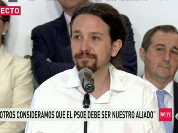"""Frame 91.710106 de: Iglesias: """"queremos que el PSOE sea nuestro aliado"""""""