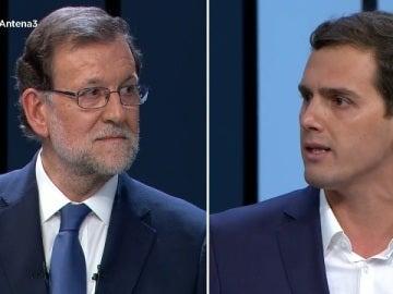 Rajoy y Rivera en el debate a cuatro