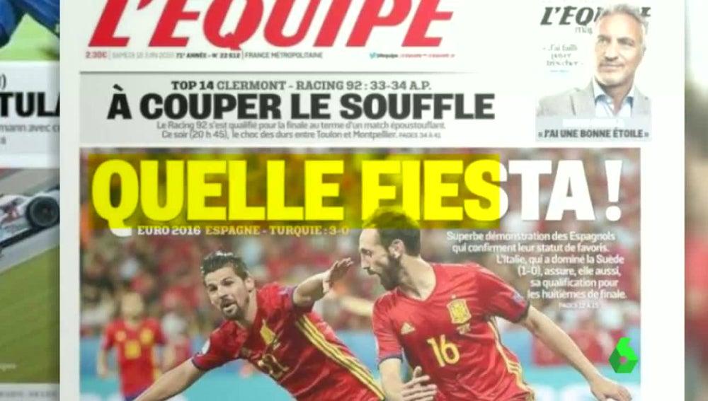 L¡Equipe se rinde al juego de España