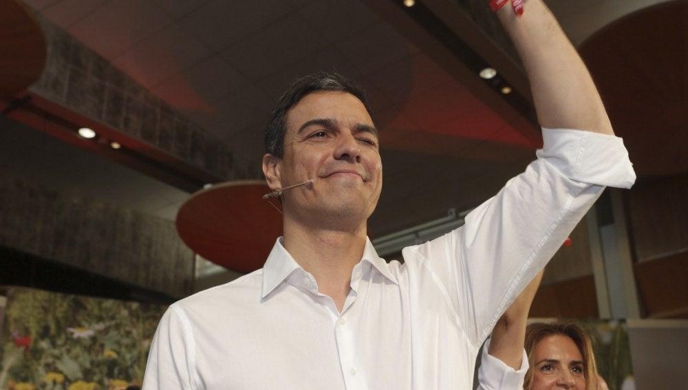 Pedro Sánchez en un acto en Zaragoza