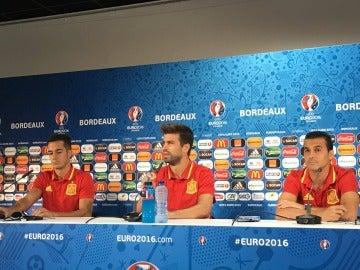 Lucas Vázquez, Piqué y Pedro