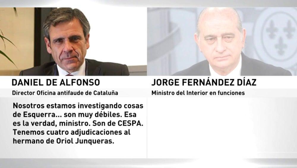 Antena 3 Tv Las Grabaciones Al Ministro Del Interior
