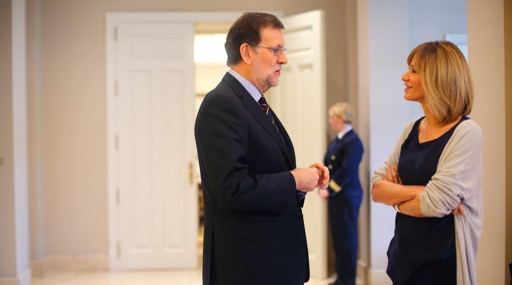 Mariano rajoy charla con Susanna Griso en 'Dos días y una noche'