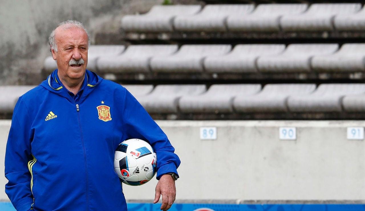 Vicente del Bosque, durante la Euro 2016