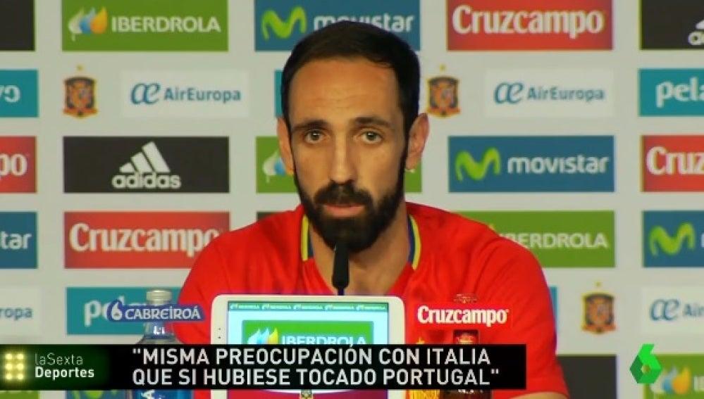 Juanfran, en rueda de prensa