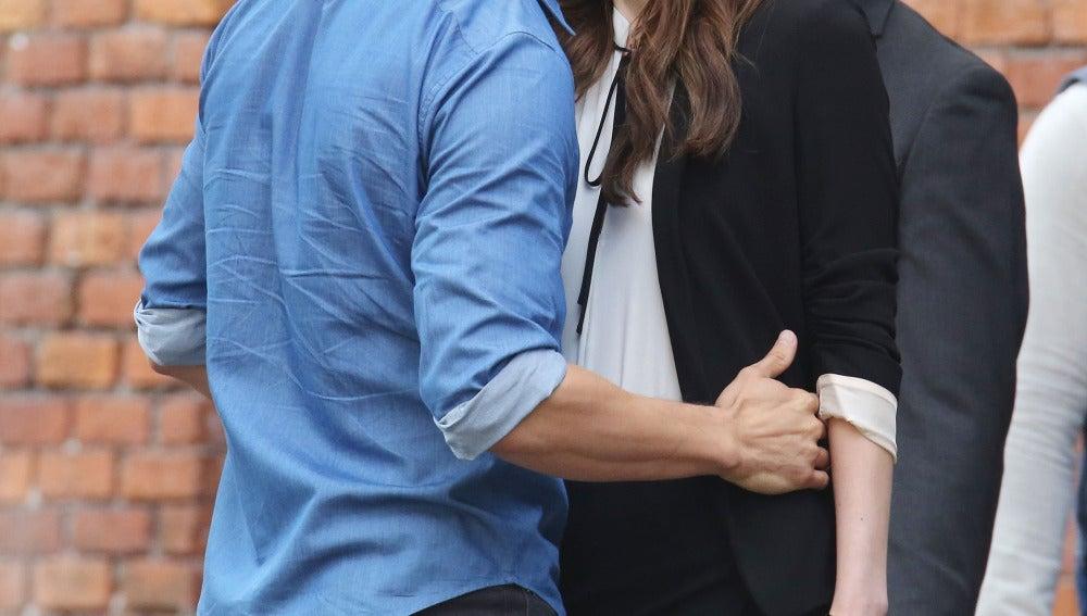 Anastasia y Grey y su pasión en el rodaje