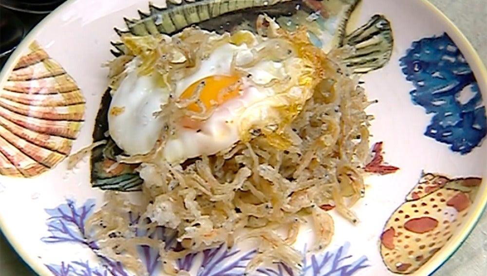 Huevos con chanquetes