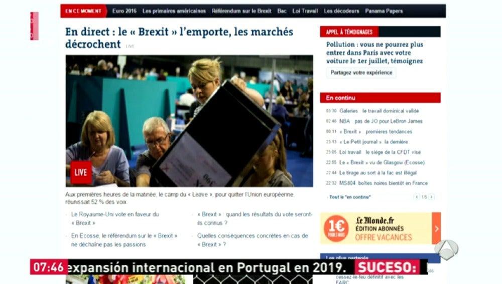 Frame 10.796678 de: La prensa internacional se hace eco de la decisión de los británicos de salir de la UE