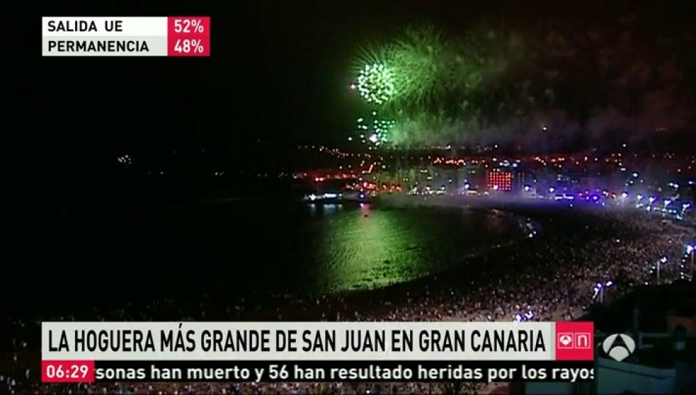 Frame 58.149021 de: Playas, plazas y calles de toda España se han llenado de hogueras para dar la bienvenida al verano en la noche de San Juan