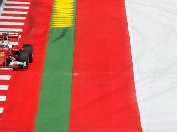 Sebastian Vettel, rodando en el GP de Austria
