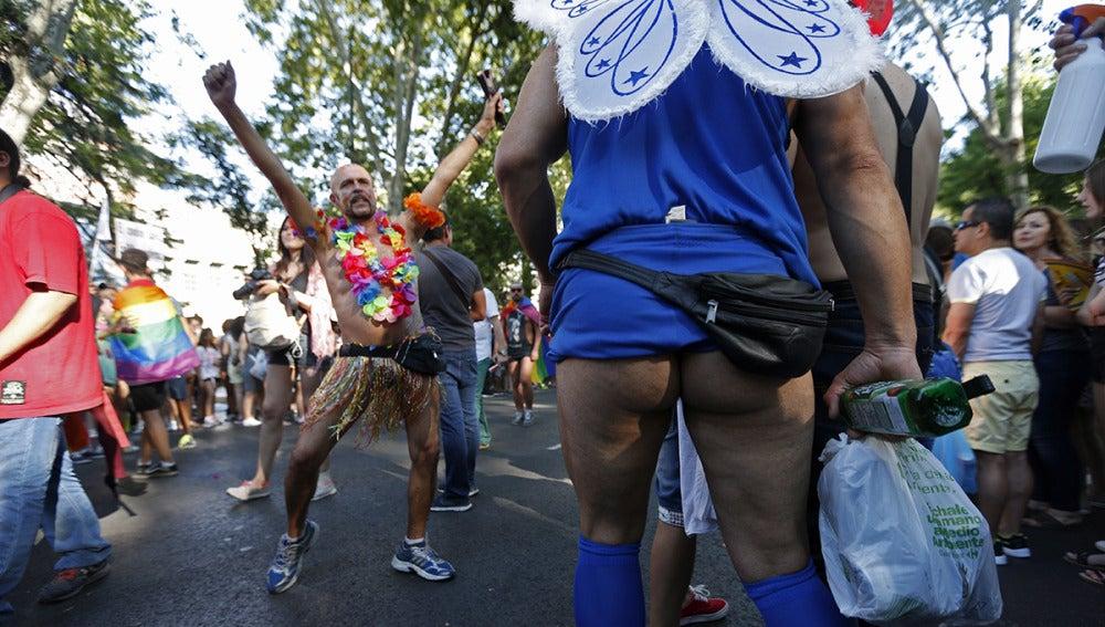 Asistentes a la marcha del Orgullo Gay en Madrid