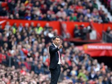 Ryan Giggs, durante un partido en Old Trafford