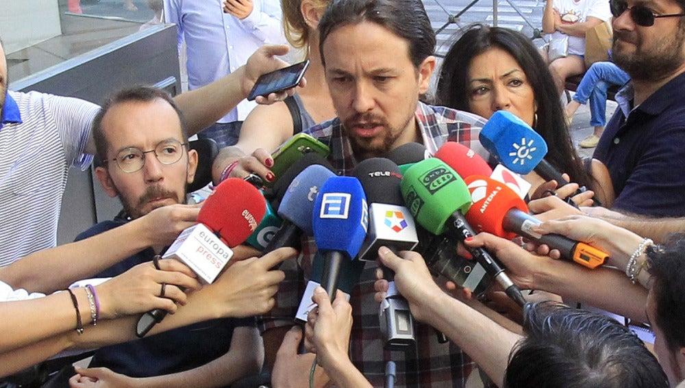 Pablo Iglesias en la calle