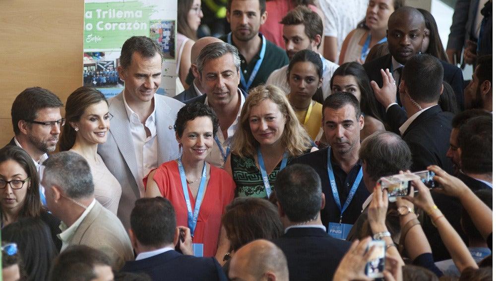 El Rey Felipe VI y la Reina Letizia en Girona
