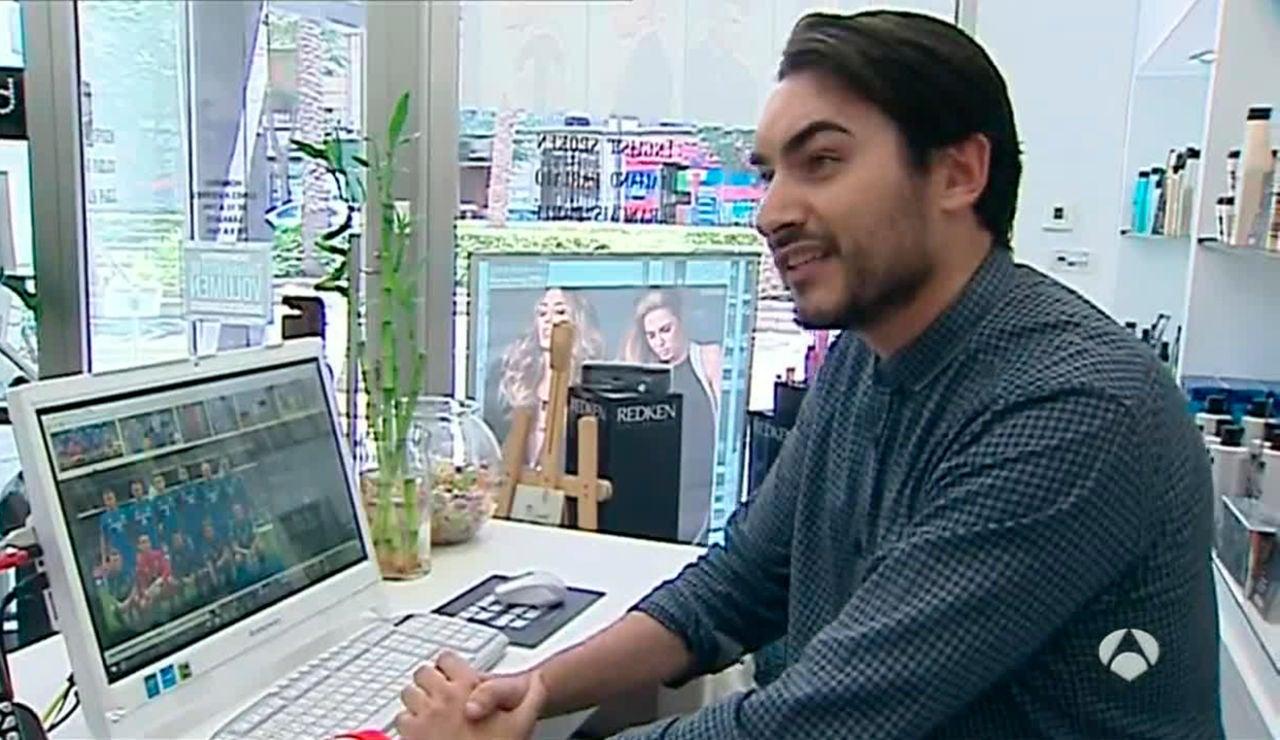 Jorge de Sancho, peluquero de la selección islandesa