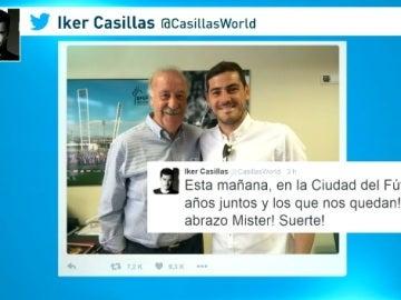 Casillas y Del Bosque firman la paz