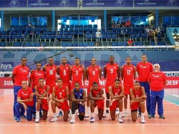 La selección de Cuba de voleibol