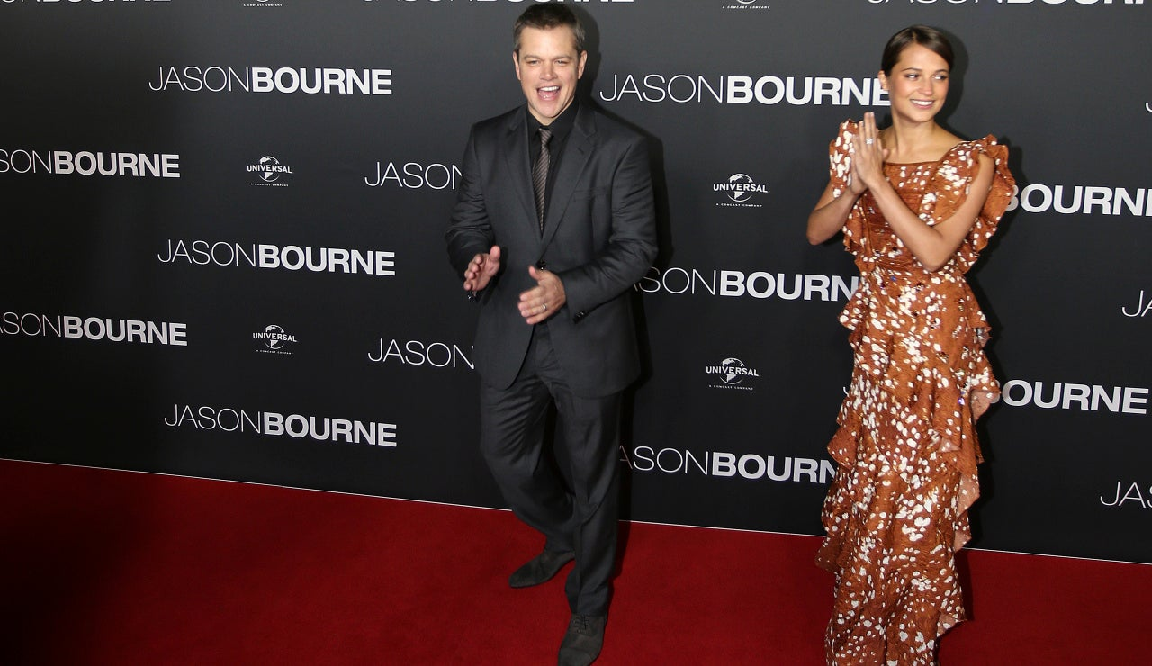 Matt Damon y ALicia Vikander se lo pasaron pipa en la premiere australiana de 'Jason Bourne'