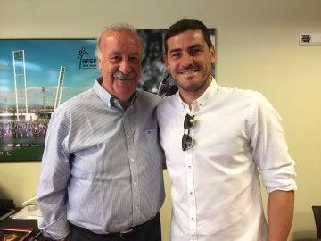Del Bosque y Casillas, en la Ciudad del Fútbol