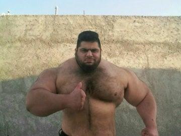 Sajad Gharibi, el Hulk iraní