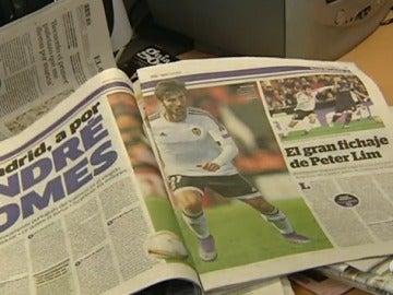 André Gomes, protagonista en la prensa española