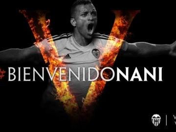Nani, nuevo jugador del Valencia